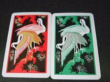 Swap Kem Playing Cards Art Deco Flamingo Like Birds