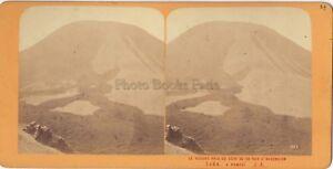 Vesuvio Pompei Italia Stereo J.Andrieu Parigi Albumina Ca 1870