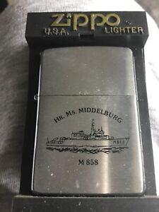 ZIPPO 2002 LIGHTER DUTCH NAVY HMS WARSHIP HR.MS MIDDELBURG M858