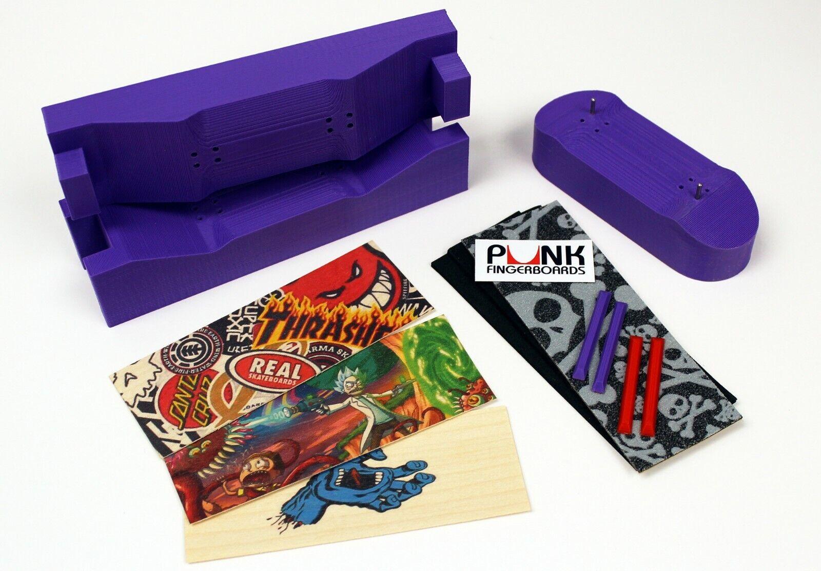 IMPROVED  Pro 32mm Fingerboard Mold, Graphic Veneer, Grip Rails Berlinwood Woob