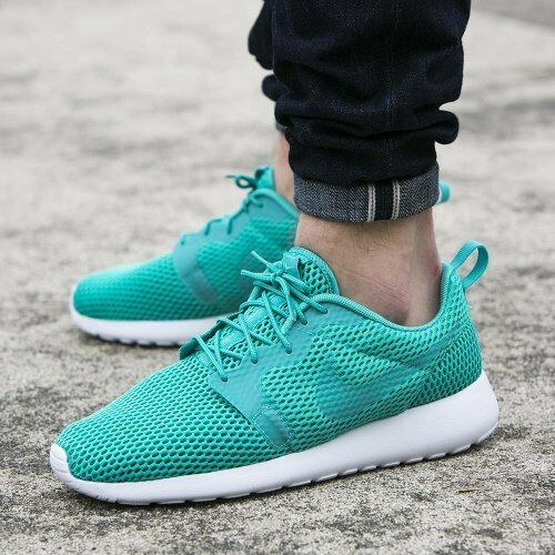 372661e37d6f Nike Roshe One HYP BR Hyperfuse Breeze Rosherun Green White Mens Run  833125-300 UK 8.5 for sale online