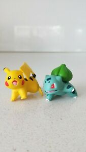 Original-Pokemon-Pikachu-amp-Bulbasaur-Figures-x2-New-Without-Tag