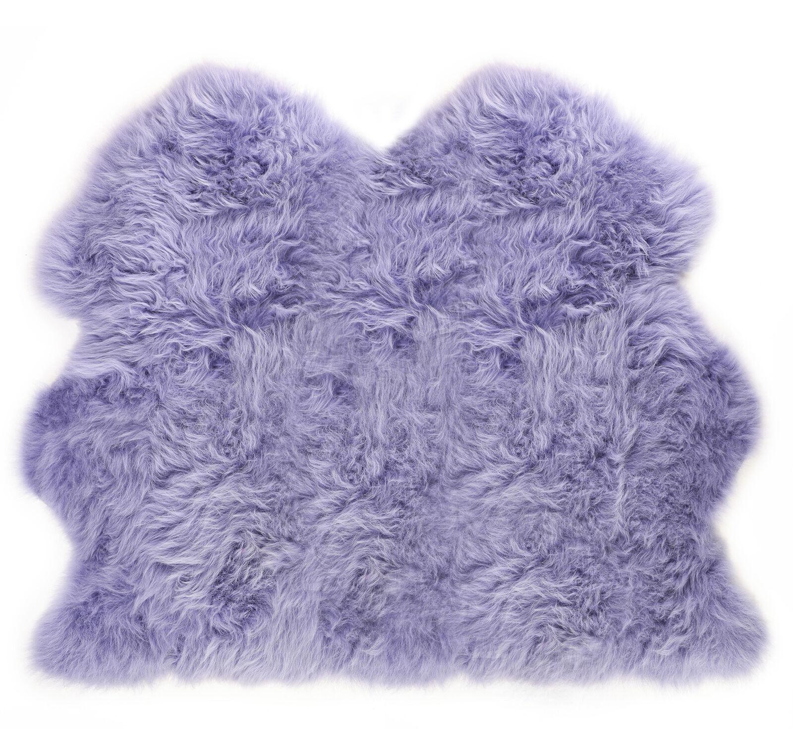 Très Doux Extra Large Double Véritable Lilas Doux Doux Doux Purple Sheepskin Rug Cachette | La Construction Rationnelle  9f91b0