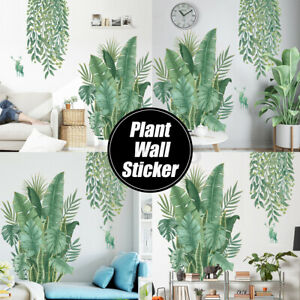 Wall-Stickers-DIY-Green-Leaves-Plant-Wallpaper-Home-Bedroom-Decor