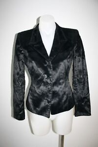 EMPORIO-ARMANI-black-fitted-jacket-size-38-AU-8-1000-NEW