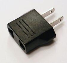 4 Pack EURO EU Round Pin to USA US Flat Adapter Changer Plug