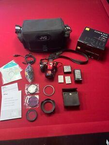Nikon-COOLPIX-P510-16-1MP-Digital-Camera-Red-hood-filter-bag-bundle-battery