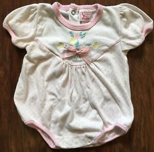 ce7d5b96e Vintage Buster Brown Baby Girl 6-9m Summer Bubble Romper Flower ...