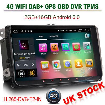 "9"" Android 6.0 GPS Navi Car Stereos SD DAB+VW PASSAT GOLF JETTA SEAT POLO SKODA"