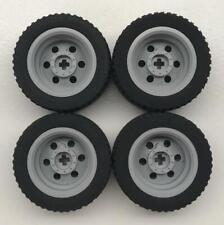 Chassis 4x racing slick Wheels//Tyres Steering Wheel NEW Lego 2441