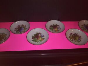 Set-of-6-Vintage-Naaman-LTD-Made-in-Israel-Gold-Lined-Fruit-Themed-Small-Bowls