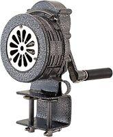 Loud Hand Crank Manual Operated Air Raid Alarm Metal Portable Siren Clamp Mount