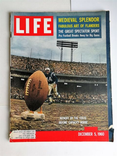 Life Magazine December 5, 1960 - Medieval Splendor - NFL Football - Eichmann