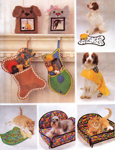 PET-ACCESSORIES-Raincoat-Hat-XMAS-Bed-Placemat-UNCUT-Sewing-Pattern