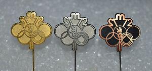 Boxing-Munich-Munchen-Olympics-1972-vintage-pin-badge-set-Anstecknadel