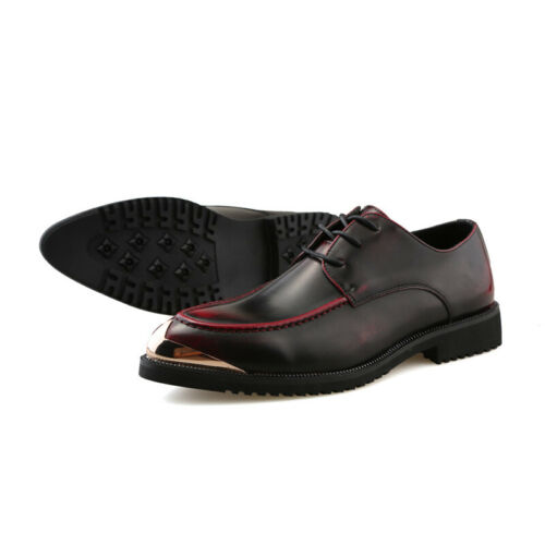 Details about  /Men/'s Pointy Toe Oxfords Business Formal Nightclub Low Top Faux Leather Shoes D