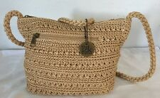 THE SAC NWOT Crocheted Shoulder Crossover Bag Natural