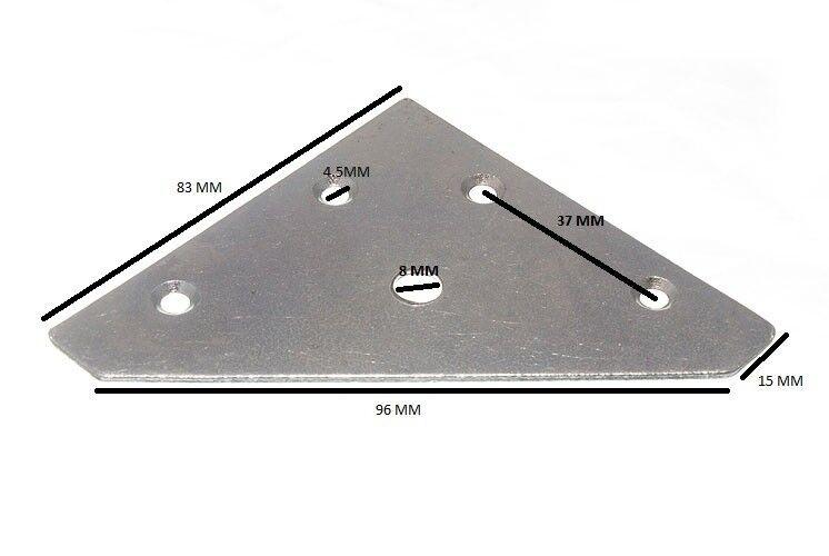 Esquina Reparación Reparación Placa 83mm X 83mm X 1mm Zp Paquete de 25