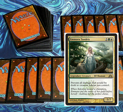 mtg WHITE GREEN SELESNYA COMMANDER EDH DECK Magic the Gathering 100 cards