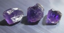 35.6ct 3pc Lot Russian Amethyst Crystals - Vibrant Cab Grade / Specimen Rough