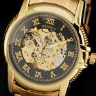 Classic Golden Skeleton Automatic Dial Fashion Luxury Men Mechanical Watch Reloj