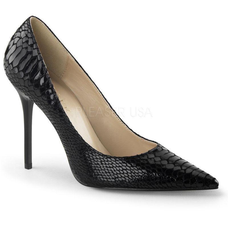 Pleaser Clas 20sp ble Escarpins Noir schlangenlook Verni Danse Gogo Soirée Chaussure