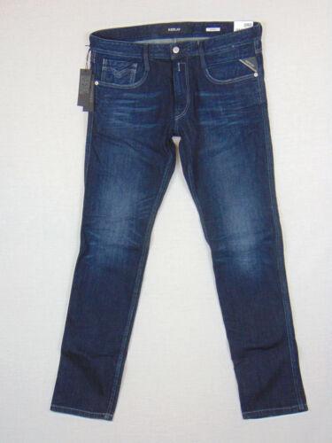 Slim Anbass Jeans blu Replay in Rrp Stretch uomo da £ L32 Fit W34 denim 145 Super d5qw1cq8r