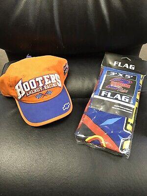 3x5 Flag NEW! Rare Vintage Hooters Energy Racing Orange Ball Cap Hat Size L//XL