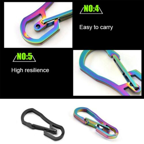 Titanium Plating Carabiner Camping Clip Outdoor Key Ring Clip Keychain Holder