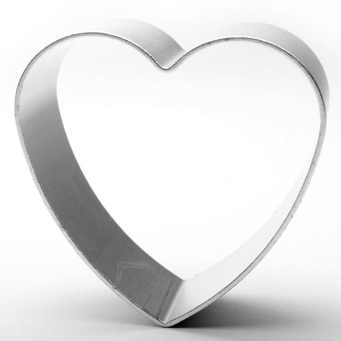 Valentines I Love Heart U Cookie Cutter Set of 5 for Star Baker Gift Baking Biscuit Enthusiast Biscuiteers Gifts Stainless Steel 3 Hearts