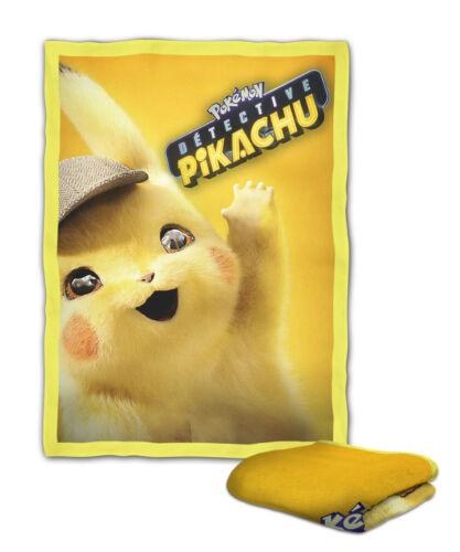 Detective Pikachu Cute Blanket KIDS // MEDIUM // LARGE