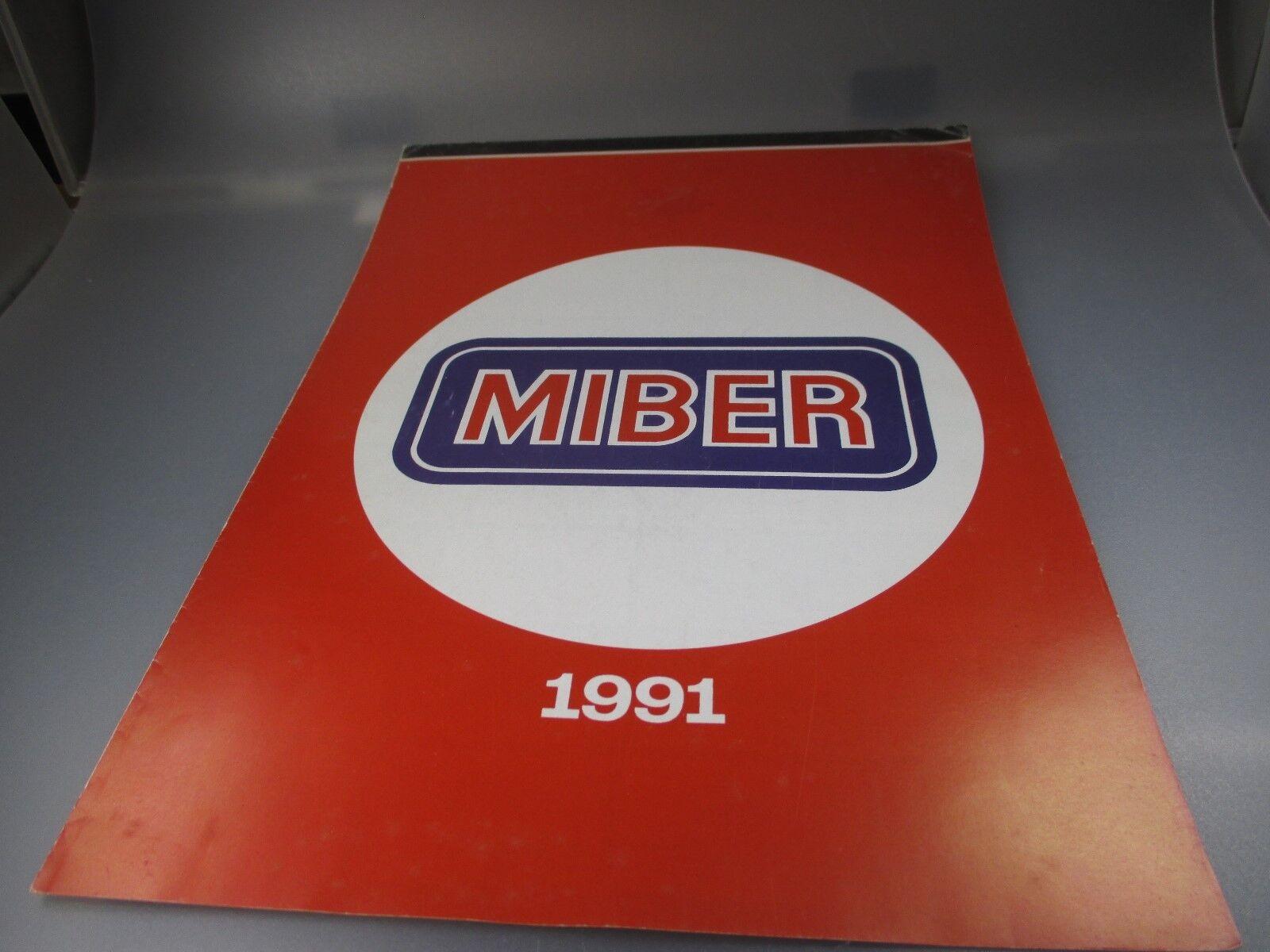 Miber : Gesamt-Program 1991, Rari Brochure Der Gesuchten 1:87 Modelli (GK76)