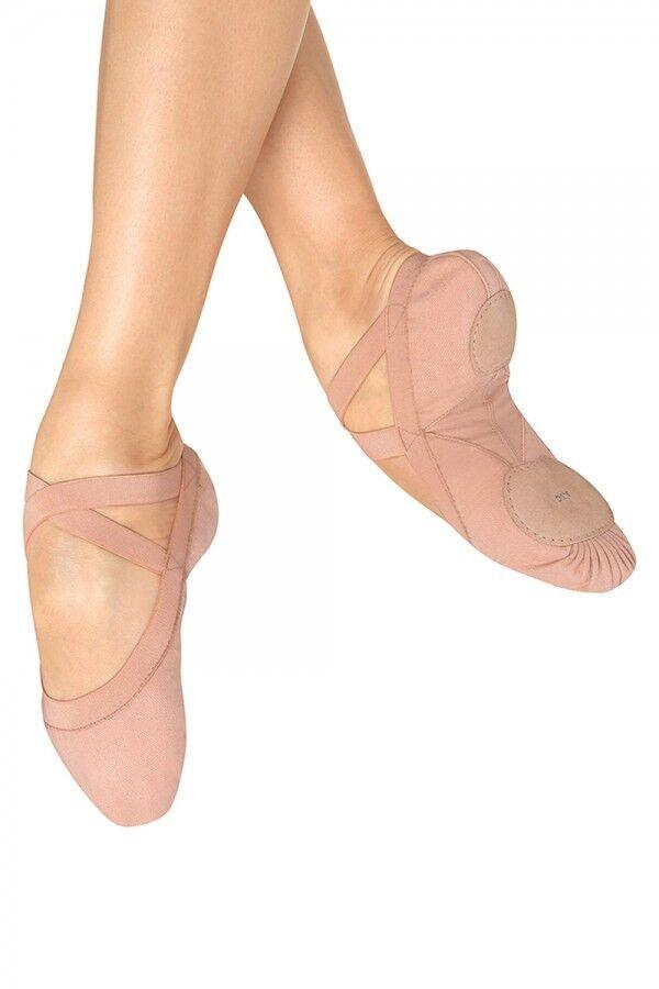 Bloch SO621L Pro Elastic canvas split sole ballet shoes in Pink
