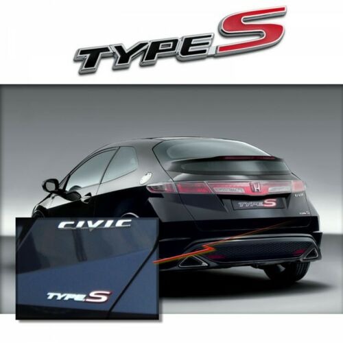 Honda Civic Type S Emblème Badge Autocollant Logo Chrome Acura MDX TSX TL B