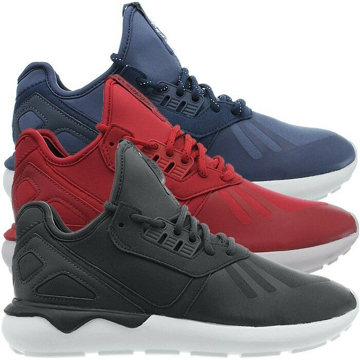 Adidas Tubular gray Runner men's mid-cut sneakers blue red gray Tubular casual shoes NEW ffa256
