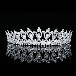 Bridal Pageant Rhinestones Crystal Prom Wedding Crown Tiara 7496