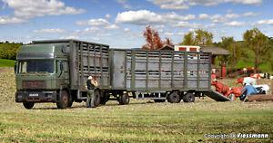 Kibri-12248-Spur-H0-Viehtransporter-mit-Anhaenger-und-12-Kuehen-NEU-amp-OvP
