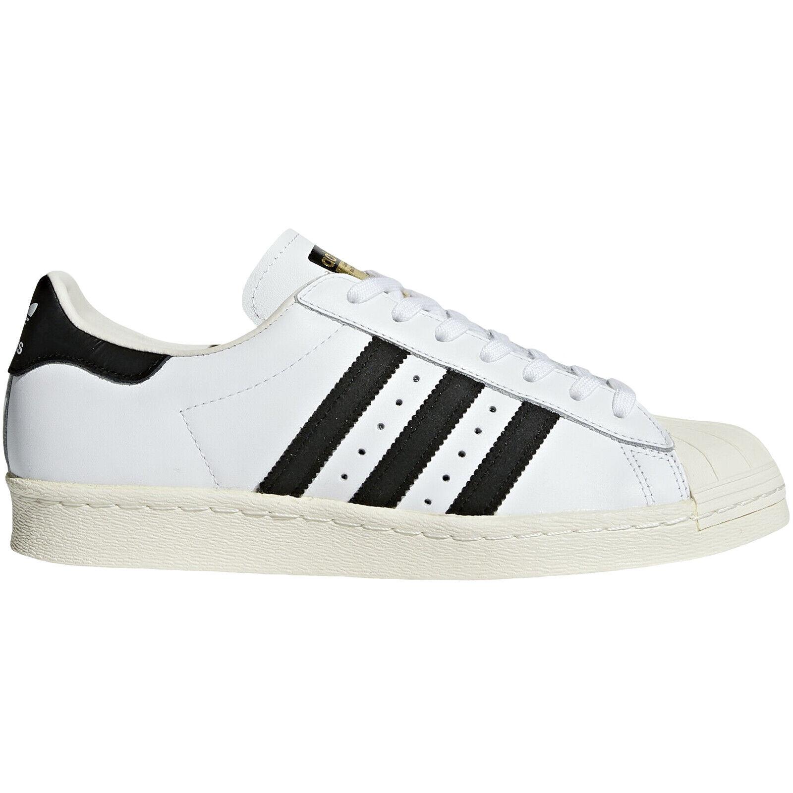 Adidas Original Herren Superstar 80S Gehäuse Zehen Modische Turnschuhe - Weiß