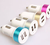 Micro Bullet Dual USB 2-Port Car Charger Adapter for iPhone iPod Touch Samsung