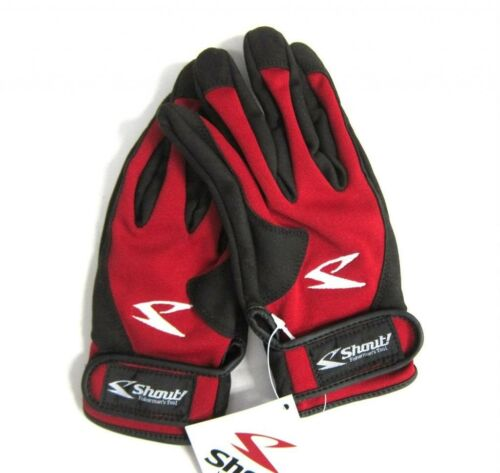 Shout 15-JG Gloves Jigging Short Fine Mesh Red Size LL 8086