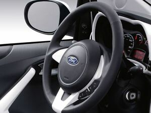 Image Is Loading Genuine Ford Ka Leather Steering Wheel Black Leather