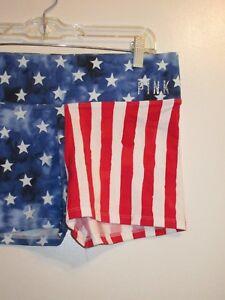 f632191c84dbd3 Details about Victoria's Secret PINK S Shorts Bling Super Rare American  Flag USA Stars Stripes