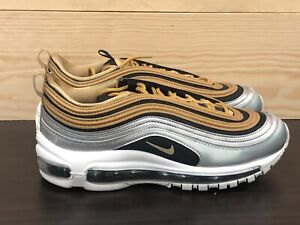 Details about Nike Air Max 97 SE SZ 8 Black Metallic Silver Gold OG AQ4137 700