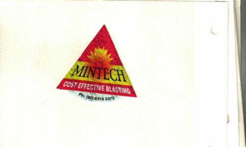 NICE EXPLOSIVE BLASTING AUSTRALIA MINTECH COAL MINING STICKERS # 1481