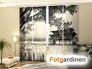 Fotogardinen Ornament Schiebevorhang Schiebegardinen 3D Fotodruck,Maßanfertigung