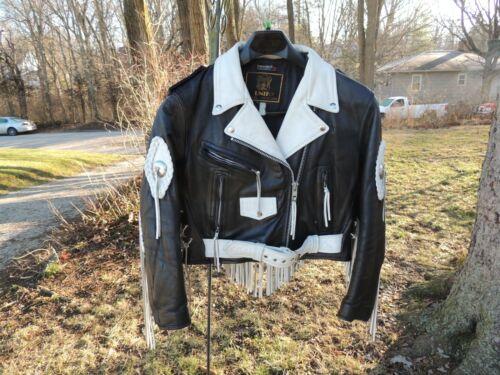 Vintage Biker Motorcycle, Unik, 1980's Black White