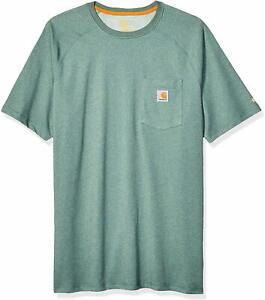 Carhartt Mens Force Cotton Delmont Short Sleeve T-Shirt 3X-Large Navy Regular and Big /& Tall Sizes