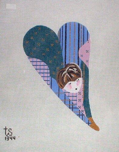 """KW 1344 /""""Betty Butt/"""" par TS Designs HP peint à la main Needlepoint Canvas"""