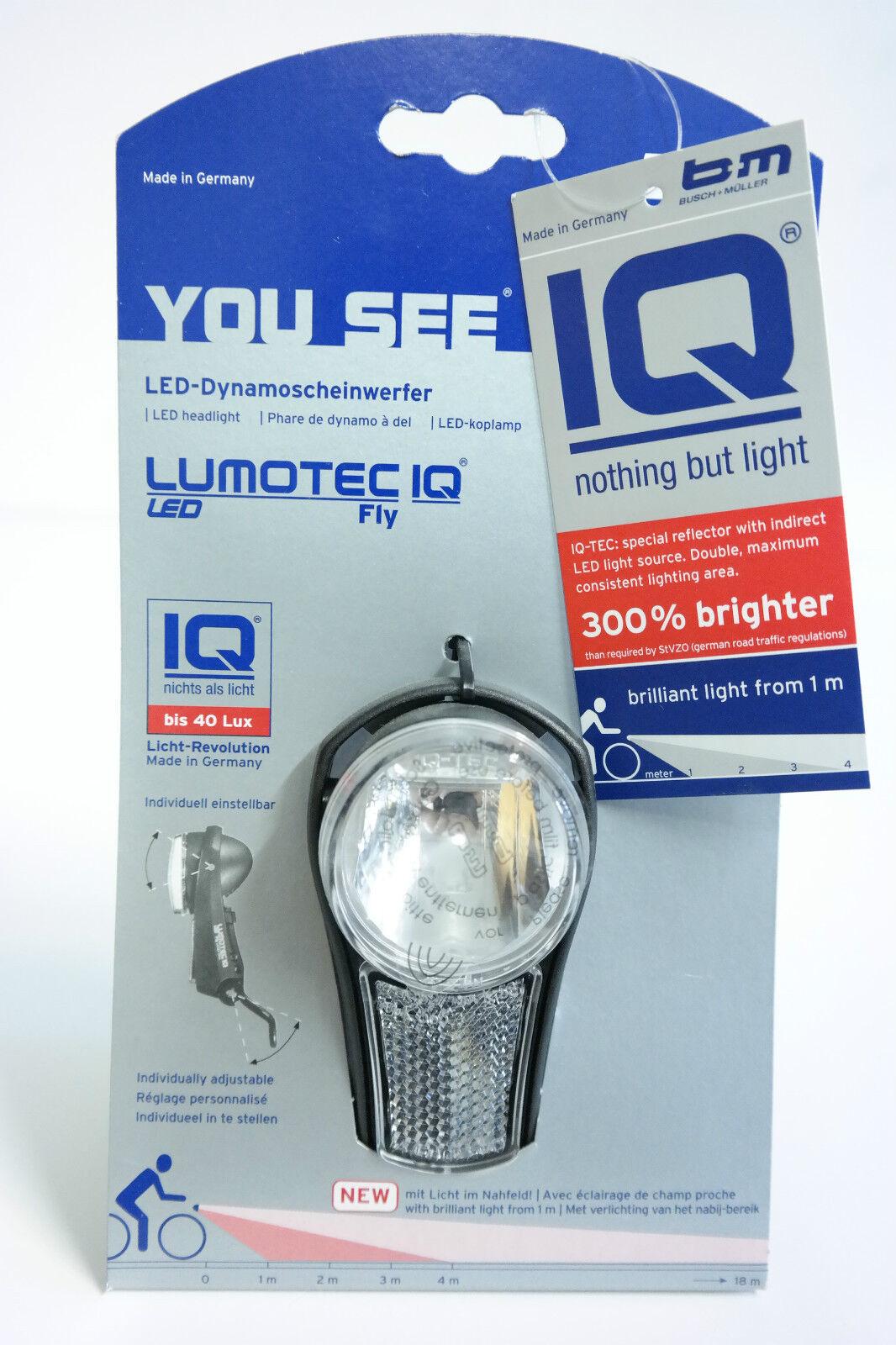 Busch Fly und Müller BuM Lumotec IQ Fly Busch LED Scheinwerfer 300% heller bis 40 Lux dd6565