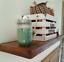miniature 13 - Floating Shelf, reclaimed barn wood shelving, kitchen shelves, bathroom shelf
